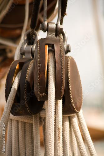 Keuken foto achterwand Schip Accastillage d'un vieux voilier