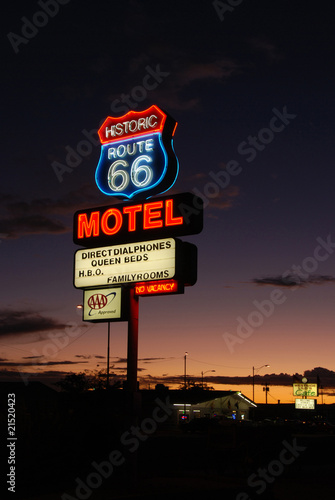 In de dag Route 66 route 66 motel