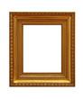 antiker goldener Rahmen, isoliert auf weißem Hintergrund 05