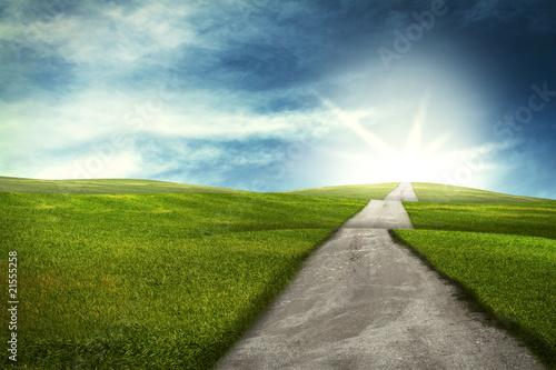 Photo  Weg über Hügel