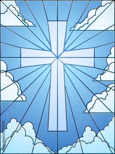 witraz-krzyz-na-niebie