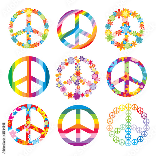 Foto  set of peace symbols