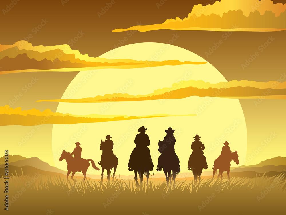 Fototapeta Horse riders