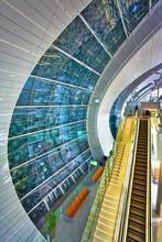 Abstract Window In Dubai Airport