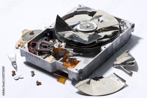Valokuva  destroyed computer device