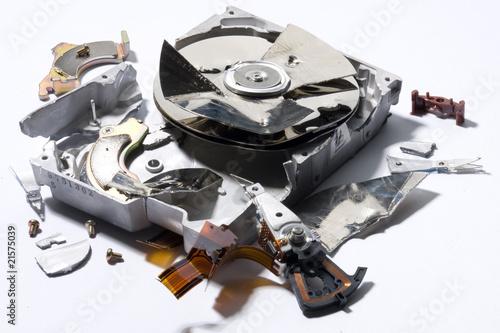 demolished hard-disk Canvas-taulu