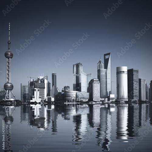 Plakaty czarno białe szanghai-chiny