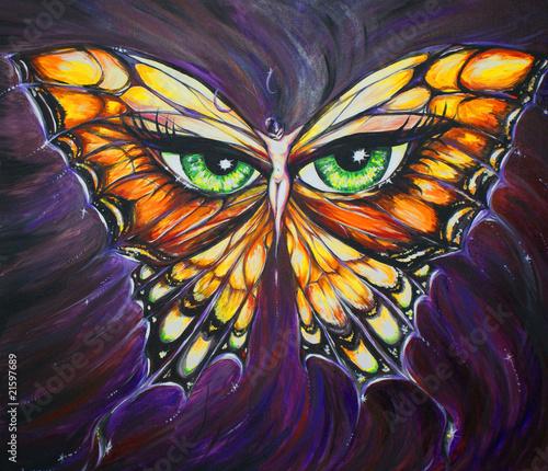kobieta-motyl-malowany-akrylowo