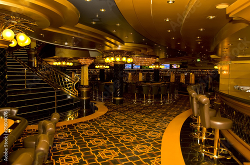 Fotografie, Obraz  Magnificent interiors and rest on cruise the ship.Casino