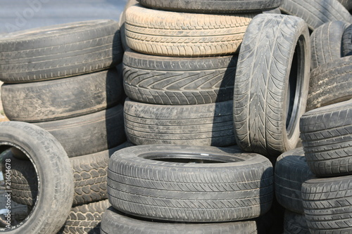 Old tyres in Thailand  - Buy this stock photo and explore
