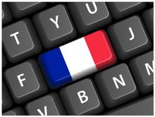 Touche Drapeau Français Sur Clavier (France Bouton Web Vecteur)
