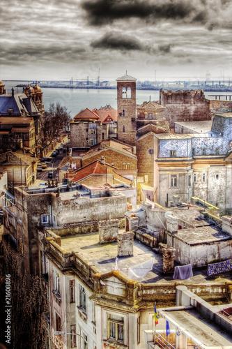 Staande foto Afrika vintage cityscape view
