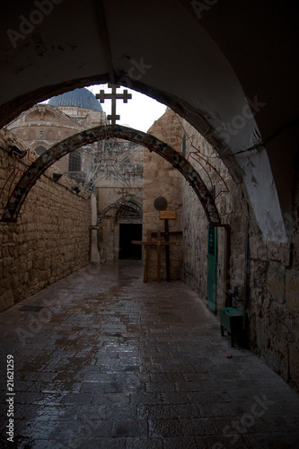 Papiers peints Tunnel Interior view of holy cathedral in Jerusalem