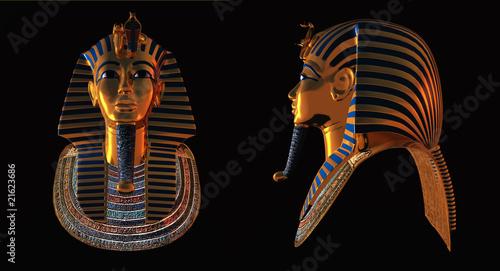 Obraz na płótnie Two pharaoh death masks