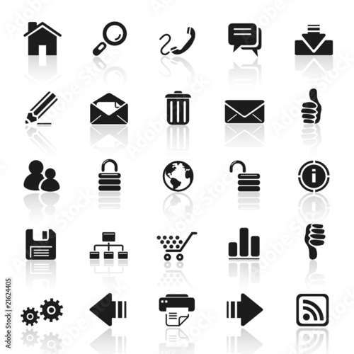 Photo  set 1 - web - internet icons 2 - black series