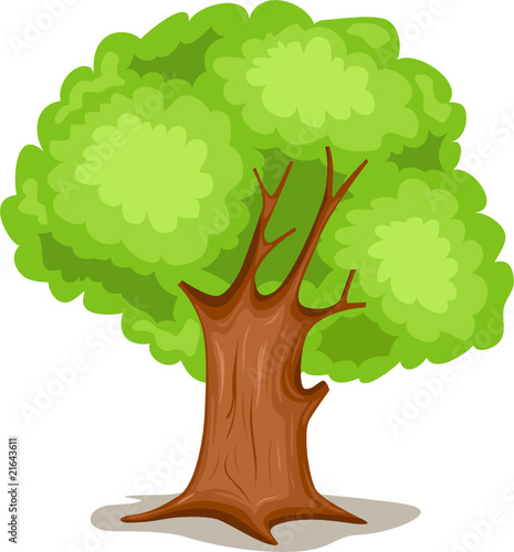 Garden Poster Forest animals tree