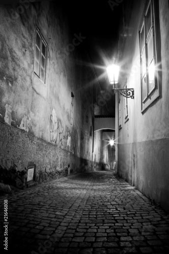 Poster Smal steegje mysterious narrow alley