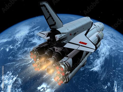 Naklejka premium Statek kosmiczny