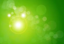 Vector Abstract Background Green Bokeh