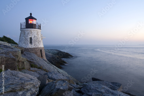 Castle Hill Lighthouse in Newport, Rhode Island Wallpaper Mural