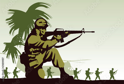 Poster Militaire Soldiers in Vietnam