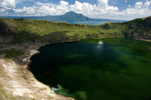 A View Of The Taal Volcano And...