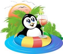 Pinguino Al Mare-Vector