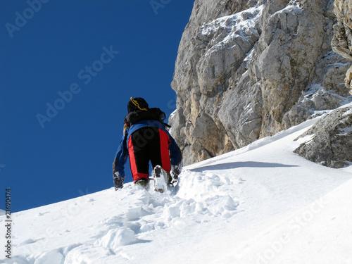 Foto op Canvas Alpinisme Climbing