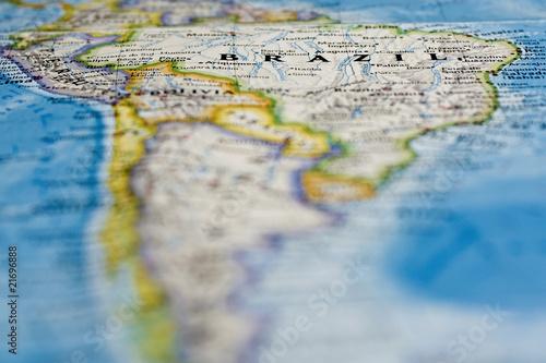 Papiers peints Amérique du Sud Brazil on The Map