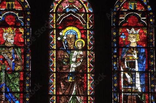 Poster Stained France, vitraux de la cathédrale de Chartres