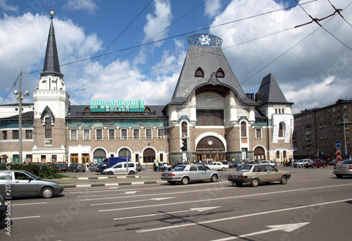 Foto auf AluDibond Bahnhof Jaroslawler Bahnhof, altester Moskauer Fernbahnhof
