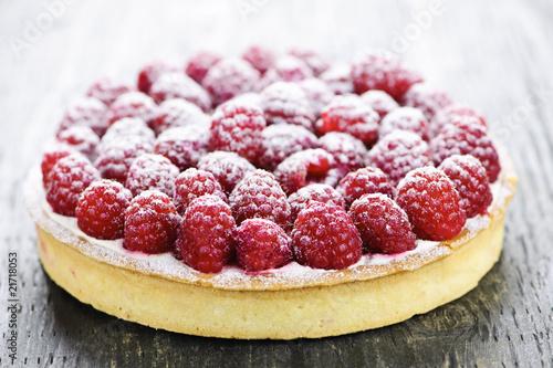 Raspberry tart Fototapeta