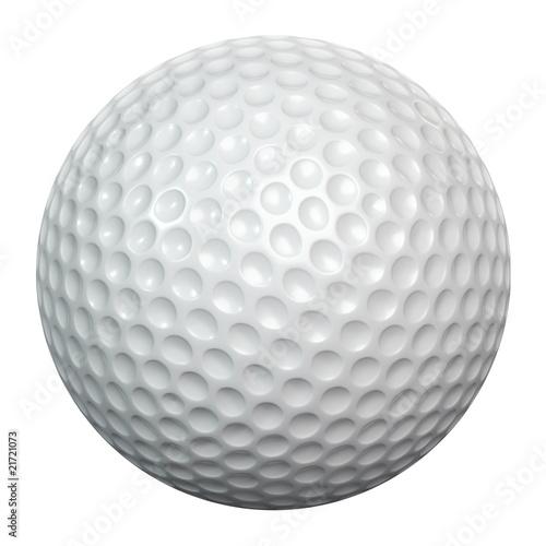 Valokuva  White golf ball including clipping path