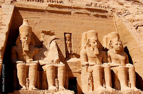 Deurstickers Egypte abu simbel