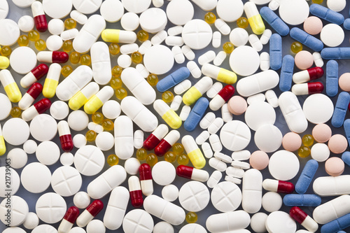 Drugs, medicines, tablets, pills - collection - Buy this stock photo