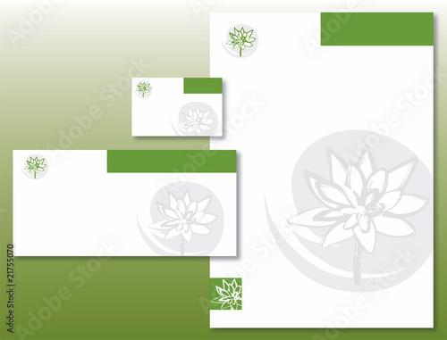 Charte Graphique Fleur De Lotus En Vert