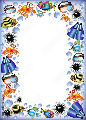 Mare Maschere E Pesci Sfondo Buy This Stock Illustration And