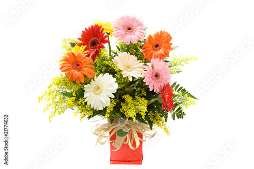 Valokuva  colorful gerbera wild fields flower vase bouquet