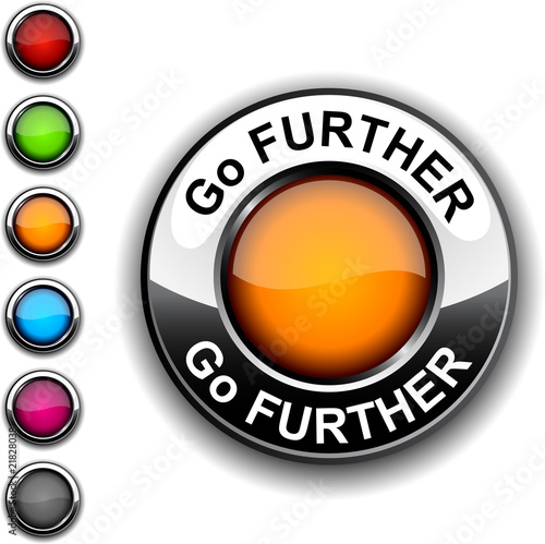 Go further  button. Poster
