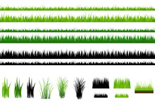 Grass Collection, Isolated On ...