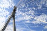 Fototapeta Fototapety mosty linowy / wiszący - Most Świętokrzyski