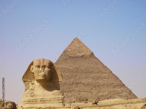 Tuinposter Egypte Pyramide und Sphinx in Ägypten