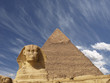 sphinx from giza + Pyramid cheops
