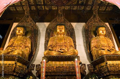 Shanghai - inside Jade Buddha Temple Poster