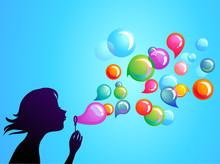 Blowing Soap Bubbles - 1