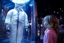 Girl In An Astronautics Museum