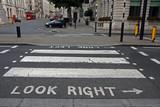 Fototapeta Londyn - Pedestrian zebra crossing in London