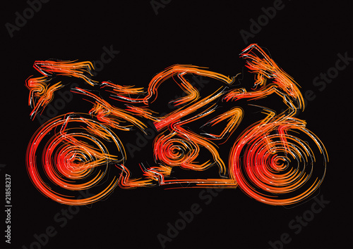 Photo  Motorcycle Silhouette Set 1