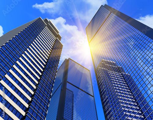 Foto-Kassettenrollo premium - Modern business buildings