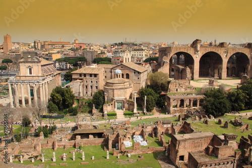 Ruines romaines Canvas Print